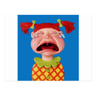 Crying Girl Postcard