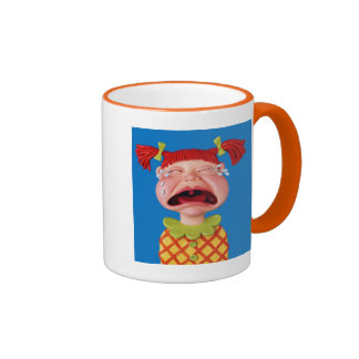 Crying Girl Ringer Mug