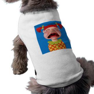 Crying Girl Sleeveless Dog Shirt