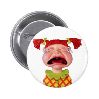 Crying GirlW 6 Cm Round Badge