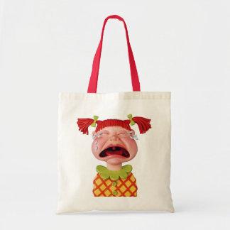 Crying GirlW Budget Tote Bag