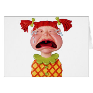 Crying GirlW Greeting Card