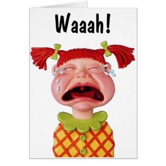 Crying GirlW Greeting Card
