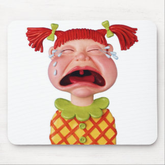 Crying GirlW Mouse Pads
