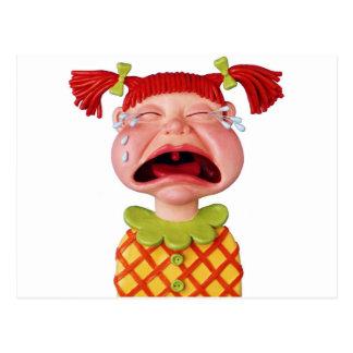 Crying GirlW Postcard
