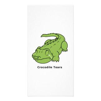 Crying Green Crocodile Tears Card Magnet Pin Photo Card Template