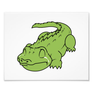 Crying Green Crocodile Tears Invitation Stamps Photographic Print