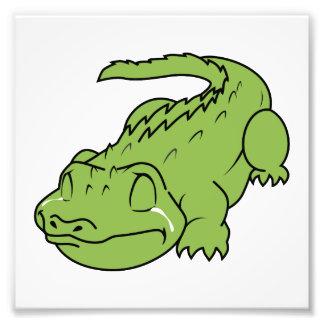 Crying Green Crocodile Tears Invitation Stamps Photo Print
