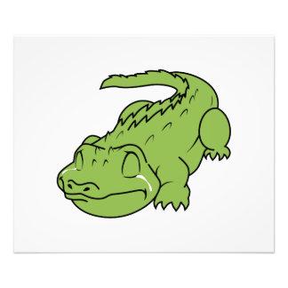 Crying Green Crocodile Tears Invitation Stamps Photo Art