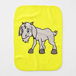 Crying Grey Young Goat Kid Animal Rights Day Burp Cloths