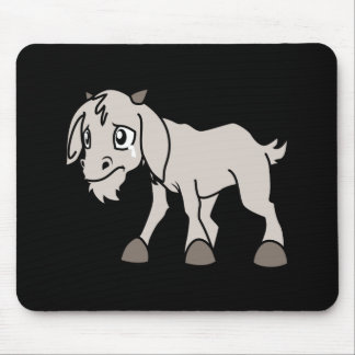 Crying Grey Young Goat Kid Animal Rights Day Mouse Pad