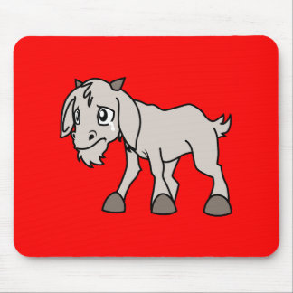 Crying Grey Young Goat Kid Animal Rights Day Mousepad