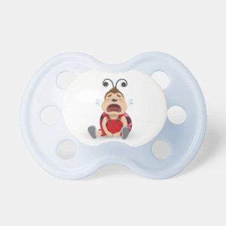 Crying ladybug blue boy dummy baby pacifier