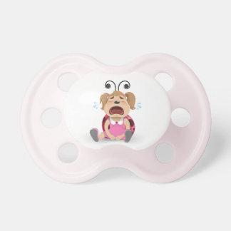 Crying ladybug pink girl dummy pacifiers