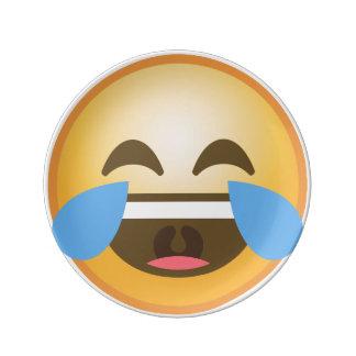 Crying Laughing Emoji Porcelain Plates