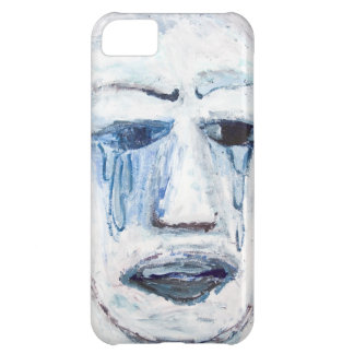 Crying Man (face portrait expressionism ) iPhone 5C Case