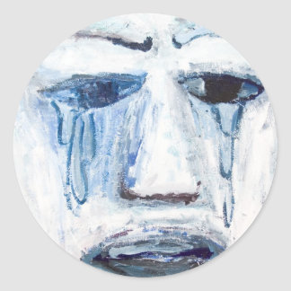 Crying Man (face portrait expressionism ) Sticker