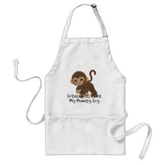 Crying Monkey Adult Apron