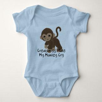 Crying Monkey Baby Bodysuit