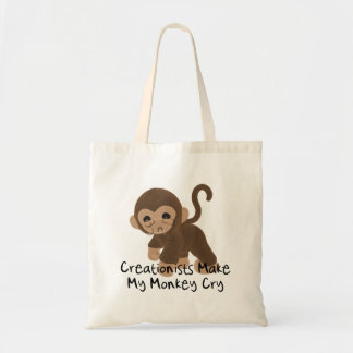Crying Monkey Budget Tote Bag