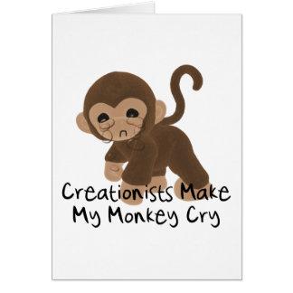Crying Monkey Card