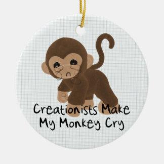 Crying Monkey Christmas Ornament