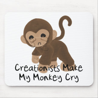Crying Monkey Mouse Pad