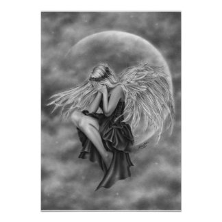 Crying Moon Angel Poster