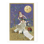 Crying Moon Poem Victorian Postcard
