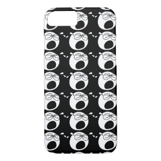 Crying Sad Round Black and White Face iPhone 7 Case