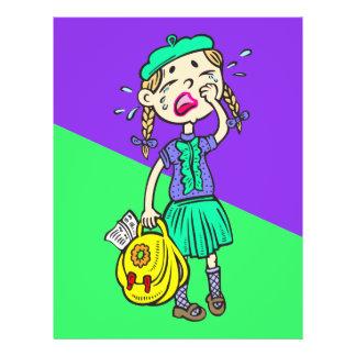 Crying School Girl Flyer