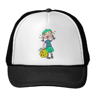 Crying School Girl Mesh Hat