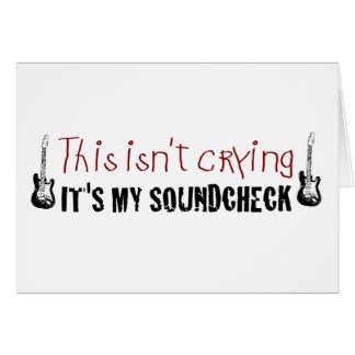 Crying sound check cards