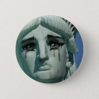 Crying Statue of Liberty 6 Cm Round Badge