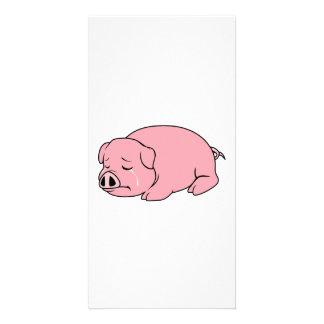 Crying Weeping Pink Pig Piglet Card Mug Pillow Pin Personalized Photo Card