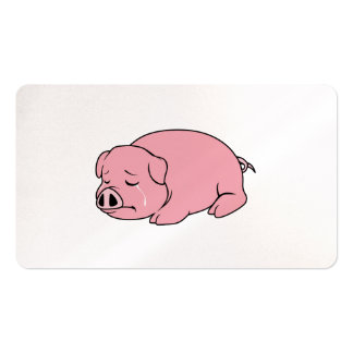 Crying Weeping Pink Piglet Card Label Stamps Pack Of Standard Business Cards