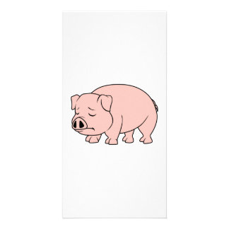 Crying Weeping Pink Piglet National Pig Day Custom Photo Card