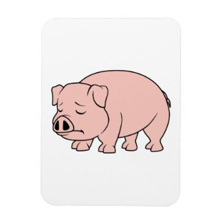 Crying Weeping Pink Piglet National Pig Day Flexible Magnet