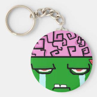 crying zombie jpg key chains