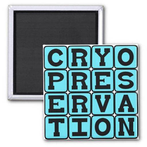 Cryopreservation, Freezing Humans Refrigerator Magnet