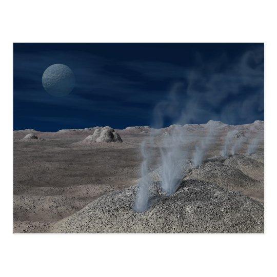 Cryovolcanism on Pluto Postcard