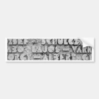 Cryptic Stone Font Bumper Sticker