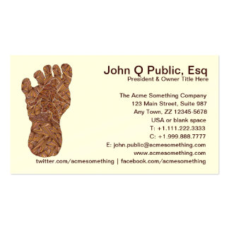 Cryptid Bigfoot Sasquatch Yeti Contact Cards Pack Of Standard Business Cards