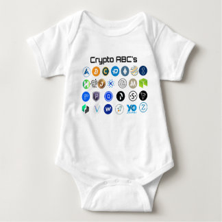 Cryptocurrency ABC's Baby Outfit Baby Bodysuit