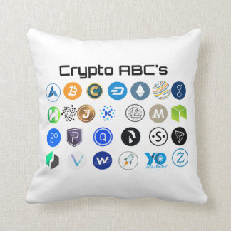 Cryptocurrency ABC's Pillow