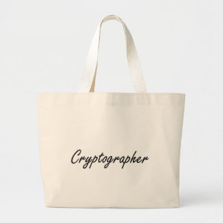 Cryptographer Artistic Job Design Jumbo Tote Bag