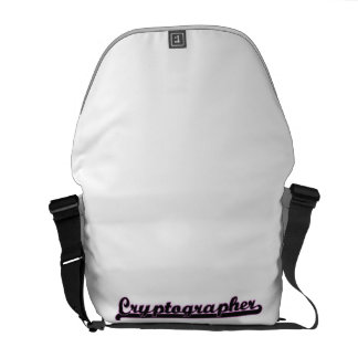 Cryptographer Classic Job Design Courier Bags