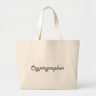 Cryptographer Classic Job Design Jumbo Tote Bag