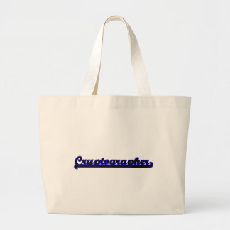 Cryptographer Classic Job Design Jumbo Tote Bag