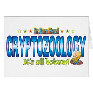 Cryptozoology Dr. B Head Greeting Card